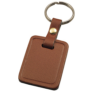 KEY RING DOUBLE LEATHER