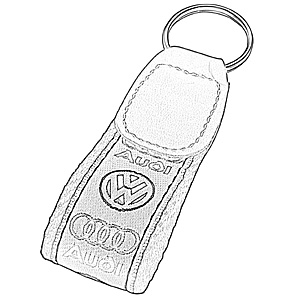 @ - EMBROIDED KEY RING RAIDER