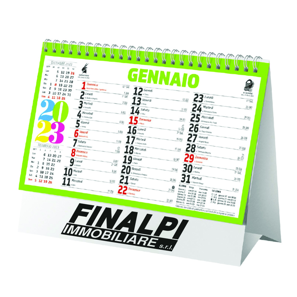 CALENDARIO PIRAMIDE QUADRICROMIA