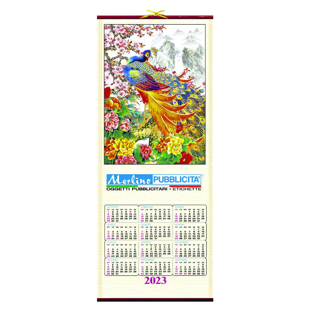 NEW CANE BAMBU' BIG CALENDAR
