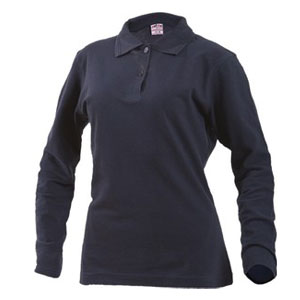 @ - COLORED POLO PIQUÉ LONG SLEEVES WOMAN 210 gr